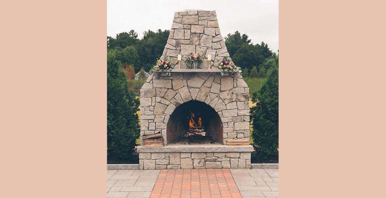 Outdoor Terrace Fireplace